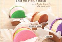 Macarons / Macarons, pastry and ice cream