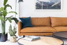 meet louis. / Meet Louis.  He is an amazing sofa by Staple&Co, which was designed in collaboration with architecture studio cmstudio.  With a modern, streamline design, the Louis welcomes you with open arms.  This particular Louis, in a buttery-soft tan leather brings warmth and a contemporary edge to the space.  Paired with light timbers, black details and a definite hit of fresh greenery, this collection is the epitome of bohemian cool with a masculine edge.