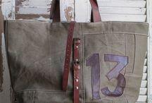 bolsa feita de lona
