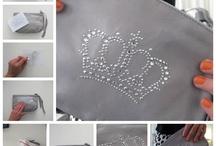 Pretty crystal iron-on motifs!