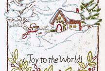 christmas card stitching