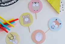Cupcake Toppers / Cupcake Toppers for Kid's Birthday Cupcakes and Cake Decoration | Printable DIY Birthday Party Decoration.