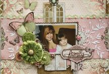 mixed media scrapbook pages
