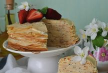 Crepe cake with poppy seeds