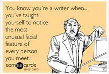 Writer jokes and cartoons