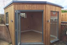 Garden Room in Barnet - 3.5m x 3m / Here is one of our Bespoke 3m x 3.5m Garden Room Studio's that we completed last week in Barnet, London.