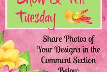 """Show & Tell Tuesday / Join us for """"SHOW & TELL TUESDAYS"""" in Grow With Nancy. This is our FREE Facebook group for artisans and crafters.  Each Tuesday show off your floral designs by posting photos. Every week 5 of the top posts will be featured in this Pinterest board! https://www.facebook.com/groups/GrowWithNancy / by Ladybug Wreaths"""