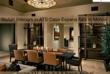 Stylish Interiors in ATS Casa Espana flats in Mohali / Inspired by Mediterranean homes, the stylish interiors of ATS #CasaEspana, #Mohali are just a right blend of comfort, #luxury and joy. For bookings, call at : 9888449029