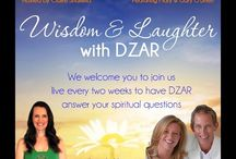 Wisdom & Laughter with DZAR / Join us live or watch later this series of bi-monthly videos in which we share more of DZAR's teachings and humour.   Hosted by Claire Shamilla these events are free of charge and designed to be shared widely. ☺
