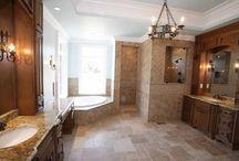 Luxurious Bathrooms / Bathrooms in homes built by Shane McFarland Construction #mcfarlandbuilds