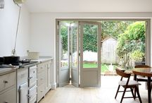 Side return extension / Wooden doors