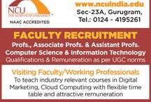 Faculty Vacancies