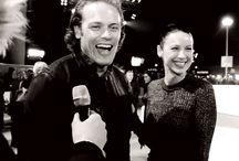 Sam & Cait co-stars of Outlander