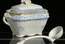 China, porcelain, glass