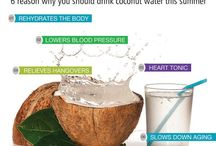 6 Reason why you should drink #coconutwater this #summer / #Coconutwater is the liquid inside green coconuts (fruits of the coconut palm). In early development, it serves as a abatement for the endosperm of the coconut during the nuclear phase of development. As growth continues, the endosperm matures into its cellular stage and deposits into the rind of the coconut.