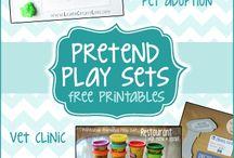Låtsas lek idéer // pretend play