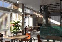 Wnętrza komercyjne - projekty restauracje