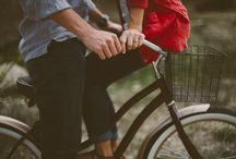 Love on Bikes ❤️ / Love couple man woman bike bicycle