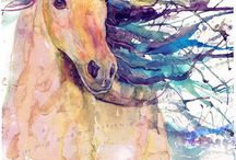 rajzolva, festve ló