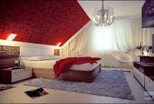 мансардной спальнач