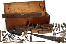 vintage carpenter trunk