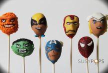 Superhero cake pops from SUSYPOPS / Superheroes!