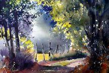 metsä-akvarellit