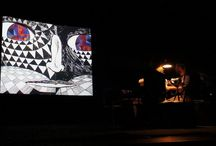 The Rock Charmer / A bespoke piece made in 2010. Projected on to the sea cliff this story tells the history of the stones. Live music was written and performed by Kimmo Pohjonen.