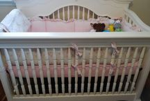 A nursery for Duncan / I am IN LOVE with our nursery for our baby girl! A shabby chic pink & blue nursery with gold accents.