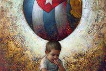 Pintor Cubano Maykel Herrera / El es el pintor de los locos bajitos..
