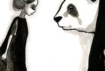 PANDAS / Illustration, art and reference pics all about panda bears.