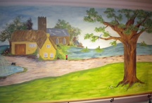 Care home mural ideas / Murals are a great way of decorating care homes. They help with navigation, memory, reduce agression and promote sociability. They have a profound effect on the elderly, particularly those with dementia.