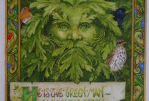 Grüne Männer und ihre Verwandten / Green Man, Jack-in-the-Woods, der Grüne Mann, Blattmaske ... eine archetypische Gestalt, die vermutlich dem keltischen Kulturkreis entstammt.