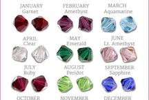 Jewelry: Birthstones / The wearing of birthstones is thought to bring good luck and good health.