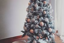 christmas / christmas tree rose gold home decorations