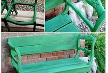 Old Chairs Make Into Bench