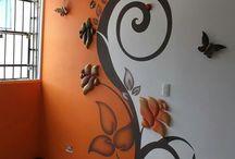 Malba na zdi