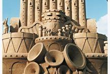 Sand sculpturen / Zand kastelen