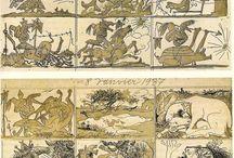 fumetti illustrazioni e patchwork