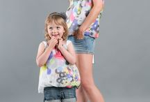 Blouse silk touch / Matching mommy and daughter outfits.