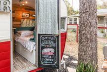 Retro. Rustic camper