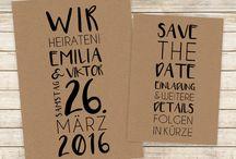 Hochzeit - Save the Date