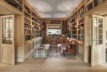 Lefèvre Interiors library design / Custom made library cabinetry, all handcrafted from the finest sustainable hardwoods using traditional techniques.