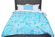 Bedding & More / Pillowcases, Pillow Shams, Featherweight Duvet, Woven Duvet, Bed Runners. Ultra soft microfiber duvet covers. Cozy comforters. #duvetcovers #comforters
