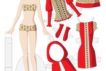 fashion dolls papier