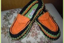 Pantuflas a crochet (Zapatillas de descanso)