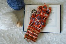 Knitting and crochering