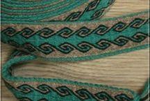 Hand Woven Tablet Weaving, Medieval Belt, Band, Trim