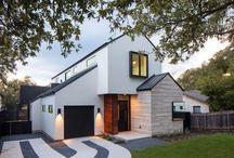 Façades maisons contemporaines