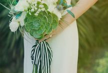 Wedding - Green / green flowers, dresses, and wedding decor
